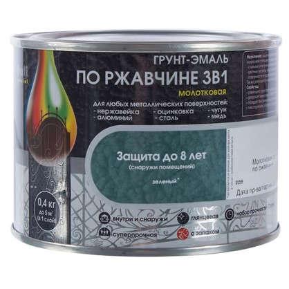 Купить Эмаль молотковая Dali 3в1 цвет зеленый 0.4 кг дешевле