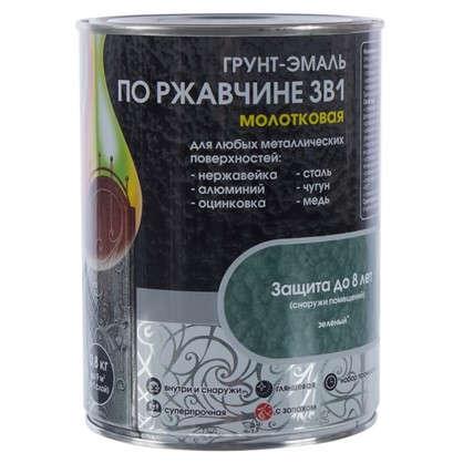 Купить Эмаль молотковая Dali 3в1 цвет зеленый 0.8 кг дешевле