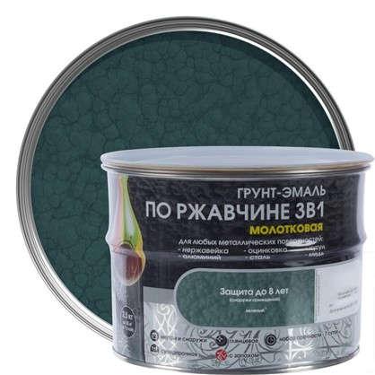 Эмаль молотковая Dali 3в1 цвет зеленый 2.5 кг