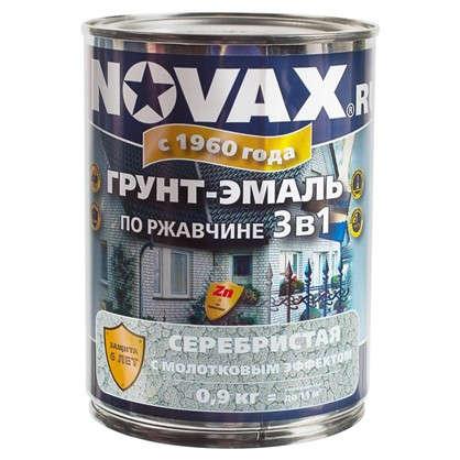 Купить Эмаль молотковая Novax 3в1 цвет серебристый 0.9 кг дешевле