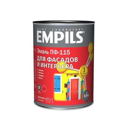 Эмаль ПФ-115 Empils PL цвет красный 0.9 кг