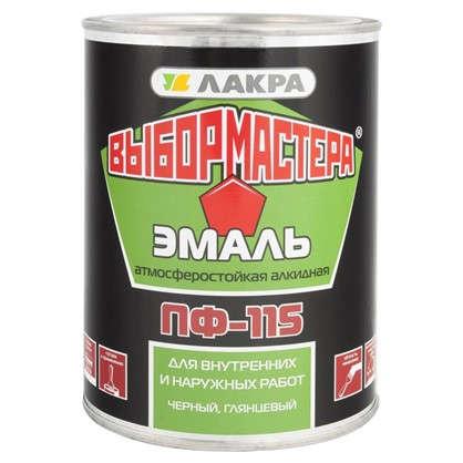 Купить Эмаль ПФ-115 Выбор Мастера цвет черный0.9 кг дешевле