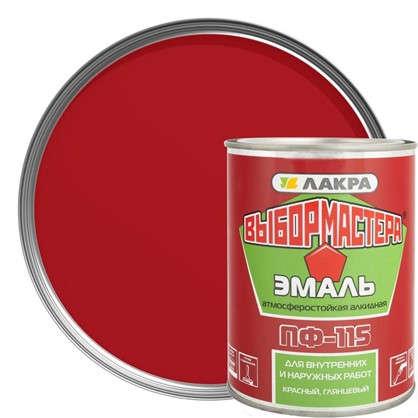 Купить Эмаль ПФ-115 Выбор Мастера цвет красный 0.9 кг дешевле