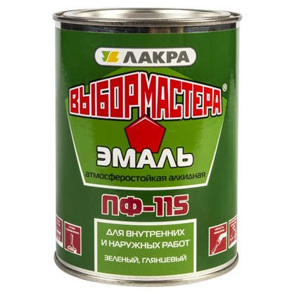Эмаль ПФ-115 Выбор Мастера цвет зеленый 0.9 кг