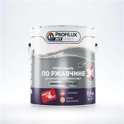 Купить Эмаль по ржавчине 3в1 цвет серый 0.9 кг дешевле