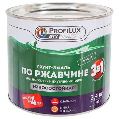 Купить Эмаль по ржавчине 3в1 цвет зеленый 2.4 кг дешевле