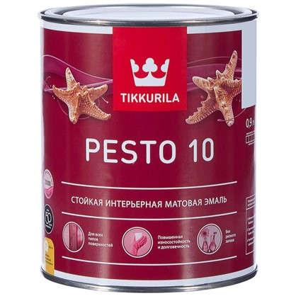 Купить Эмаль Tikkurila Песто 10 цвет белый 0.9 л дешевле
