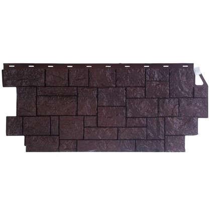 Фасадная панель FineBer Камень дикий цвет коричневый