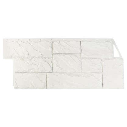 Фасадная панель FineBer Камень крупный мелованный цвет белый