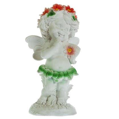 Купить Садовая фигура Ангел в цветах высота 43 см дешевле