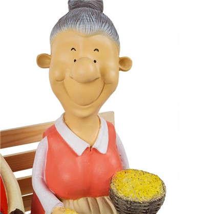 Купить Садовая фигура Бабка с дедкой на лавке высота 54 см дешевле