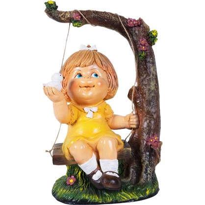 Садовая фигура Девочка на качелях высота 48 см
