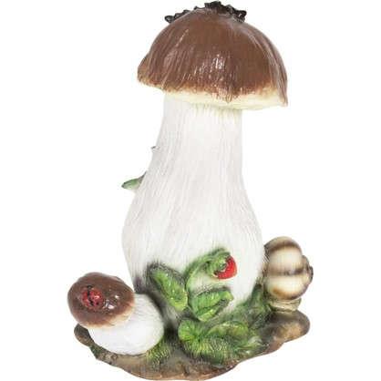 Купить Садовая фигура Гриб с ягодой и улиткой высота 34 см дешевле