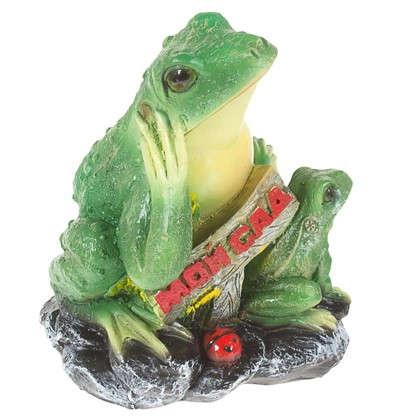 Купить Садовая фигура Лягушка с табличкой Мой сад h30 см L22 см дешевле