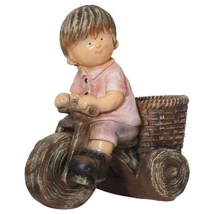 Купить Садовая фигура Мальчик на велосипеде высота 42 см дешевле