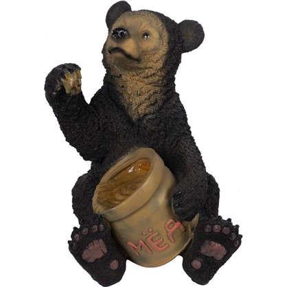 Купить Садовая фигура Медведь с мёдом высота 51 см дешевле