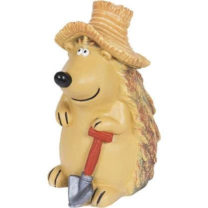 Купить Садовая фигура Ёжик в шляпе с лопатой высота 43 см дешевле