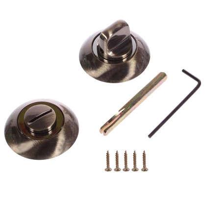 Купить Фиксатор-вертушка для дверей Palladium R AB/CP BK ЦАМ цвет античная бронза/хром дешевле