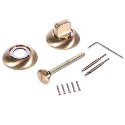 Фиксатор-вертушка для дверей Palladium R SG/CP BK ЦАМ цвет матовое золото/хром