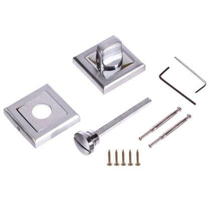 Купить Фиксатор-вертушка для дверей Palladium RS SC/CP BK ЦАМ цвет матовый хром/хром дешевле