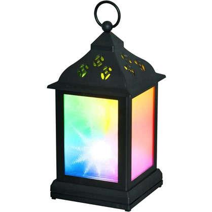 Купить Фонарь Uniel 11х22 см RGB 3D цвет черный дешевле