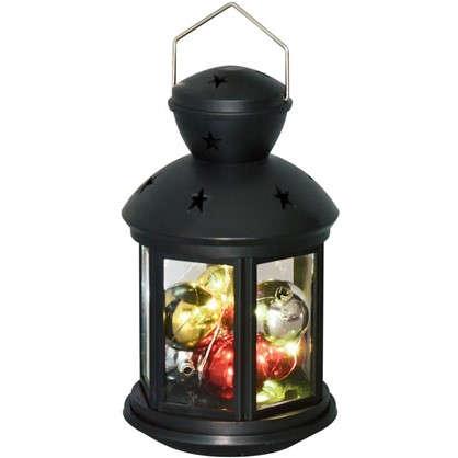Купить Фонарь Uniel 12х20 см RGB цвет черный дешевле