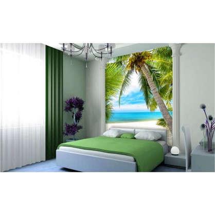 Купить Фотообои бумажные Под пальмой 140x200 cм дешевле