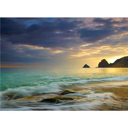 Фотообои флизелиновые Морской закат 370х270 см