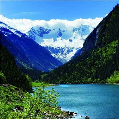 Фотообои флизелиновые Озеро 200х200 cм