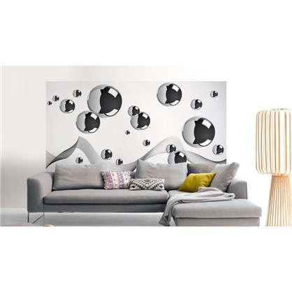 Фотообои флизелиновые Серые шары 100х200 см