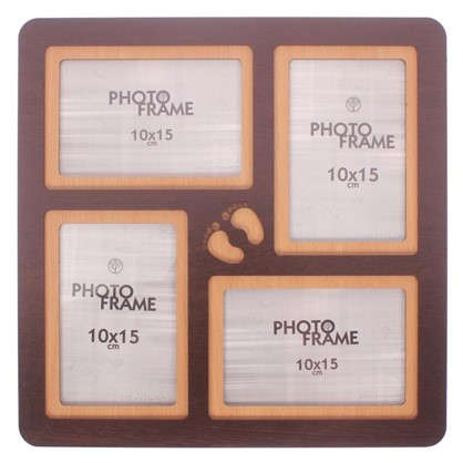 Фотосет Отпечатки 4 фото размер фото 10х15 см цвет венге