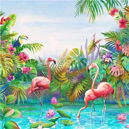 Фреска флизелиновая Фламинго 270х270 см