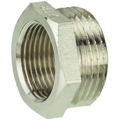 Футорка Valtec наружная-внутренняя резьба 1х3/4 мм никелированная латунь