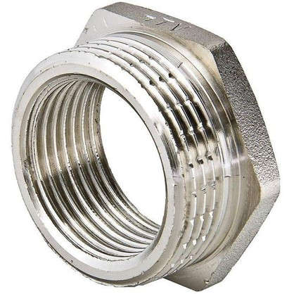 Футорка Valtec наружняя-внутренняя резьба 1 1/4х1 мм никелированная латунь