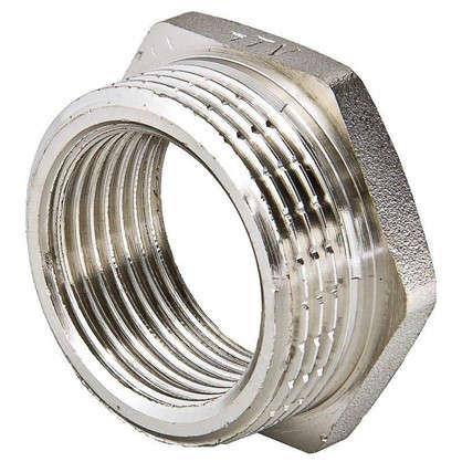 Футорка Valtec наружняя-внутренняя резьба 3/8х1/4 мм никелированная латунь