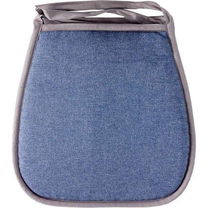 Купить Галета для стула Савана 40x40 см цвет синий дешевле