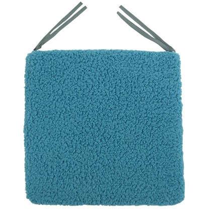Купить Галета для стула Шерпа 40x40 см цвет морская волна дешевле