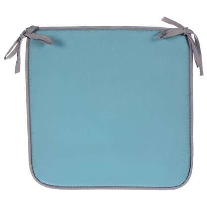 Купить Галета для стула Тити 38х38 см цвет бирюзовый-серый дешевле