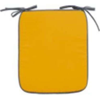 Купить Галета для стула Тити 38х38 см цвет золотой-серый дешевле