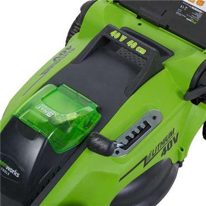 Купить Газонокосилка аккумуляторная GreenWorks 40В 4Ah 40 см зарядное устройство в комплекте недорого
