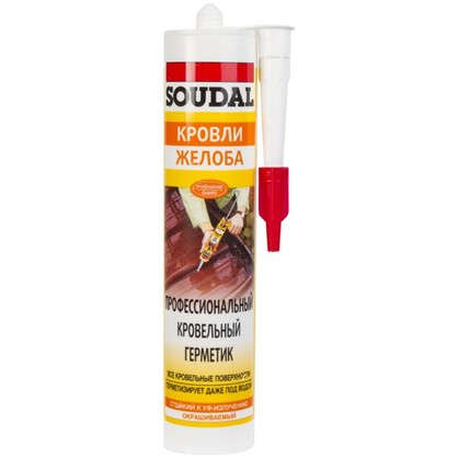 Герметик профессиональный кровельный Soudal 310 мл бесцветный
