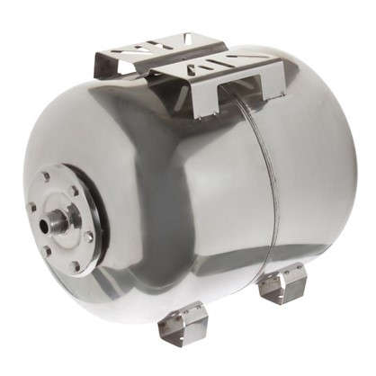 Гидроаккумулятор горизонтальный 50 л фланец нержавеющая сталь