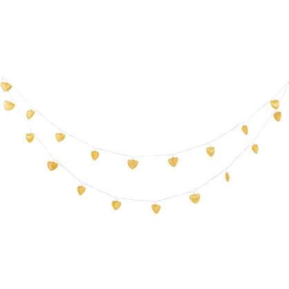 Купить Гирлянда светодиодная Сердце электрическая цвет хром/золото дешевле