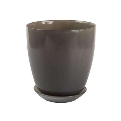 Горшок 2 л 15.8 см стекло цвет прозрачный серый