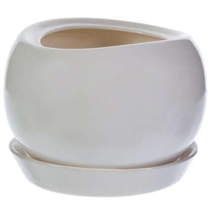 Горшок цветочный Адель d28 см керамика цвет белый