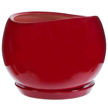 Горшок цветочный Адель d28 см керамика цвет красный