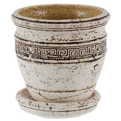 Горшок цветочный Аттика №1 0.8 л 140 мм шамотная глина