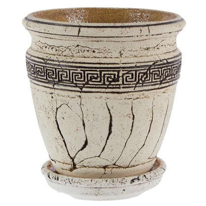 Горшок цветочный Аттика №3 4 л 230 мм шамотная глина