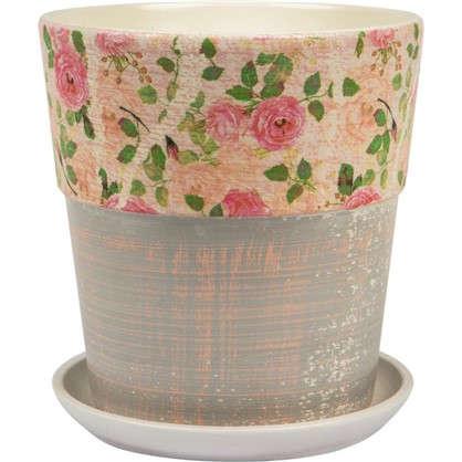 Горшок цветочный Бонди №4 2.6 л 180 мм глина