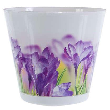 Горшок цветочный Цветы 1.8 л 160 мм пластик с поддоном